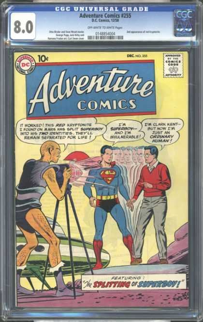 CGC Graded Comics - Adventure Comics #255 (CGC)