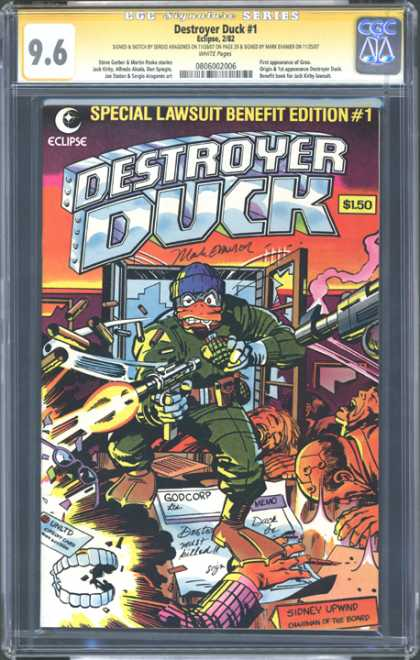 CGC Graded Comics - Destroyer Duck #1 (CGC)
