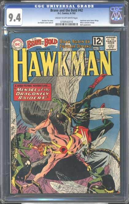 CGC Graded Comics - Brave and the Bold #42 (CGC) - Hawkman - Menace Of The Dragonfly Raiders - Wings - City - Bugs
