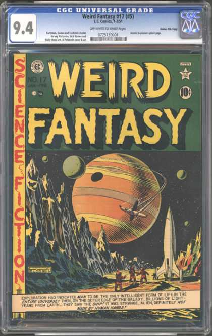 CGC Graded Comics - Weird Fantasy #17 (#5) (CGC) - Planet - Circle - Words - Yellow - Rocket Ship