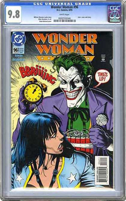 CGC Graded Comics - Wonder Woman #96 (CGC) - Joker - Times Up - Alarm Clock - Dynamite - Bomb