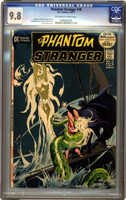 CGC Graded Comics - Phantom Stranger #18 (CGC) - Anagonda Snake - Sinke Lady - Phantom - Stranger - Super Women