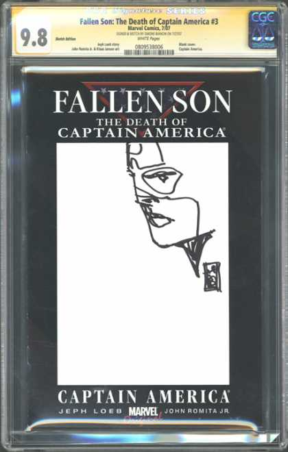 CGC Graded Comics - Fallen Son: The Death of Captain America #3 (CGC) - Fallen Son - John Leob And John Romita Jr - Fallen American Hero - Marvel Comics Death Of America - The Captain Doesnt Live