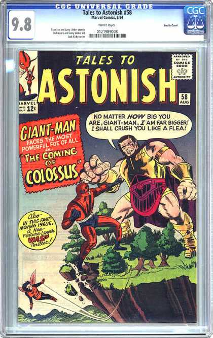CGC Graded Comics - Tales to Astonish #58 (CGC) - Tales To Astonish - Giant-man - Coming Of Colossus - Wasp - Cliff