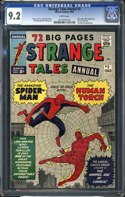 CGC Graded Comics - Strange Tales Annual #2 (CGC) - Strange - Tales - Human - Torch - Spiderman