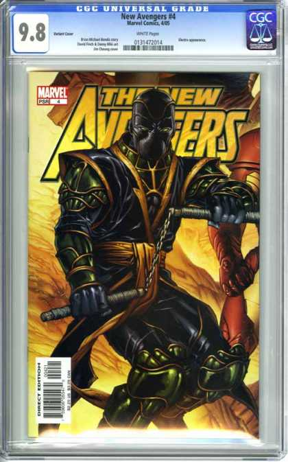 CGC Graded Comics - New Avengers #4 (CGC) - The New Avengers - Marvel Comics - Nunchucks - Black Armor - Psr 4