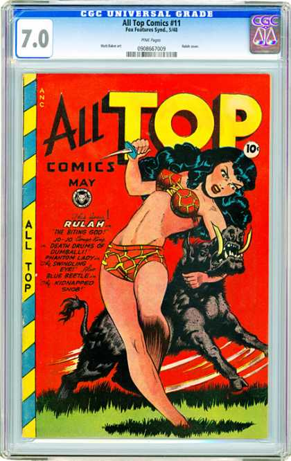 CGC Graded Comics - All Top Comics #11 (CGC) - All Top Comics - Rulah - Death Drums - Blue Beetle - Jo-jo