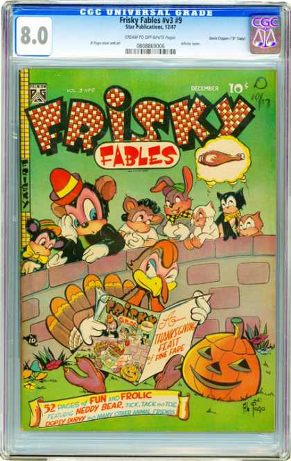 CGC Graded Comics - Frisky Fables #v3 #9 (CGC) - Food - On Guard - Hungry - Animals - Pumpkin