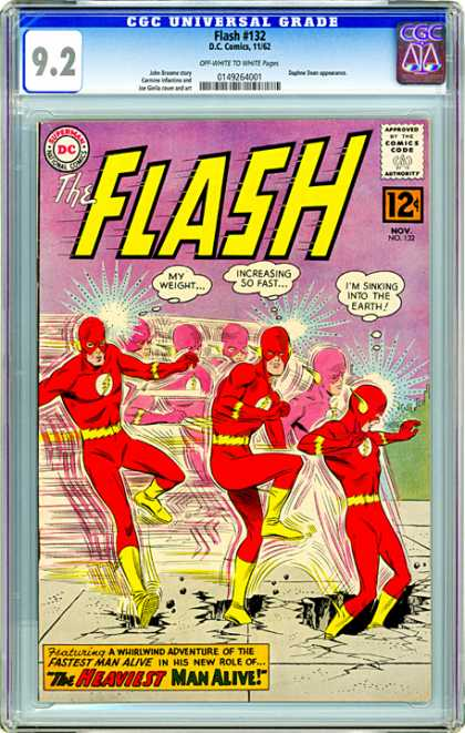 CGC Graded Comics - Flash #132 (CGC) - The Heaviest Man Alive - The Flash - Sinking Into The Earth - Weight - Increasing