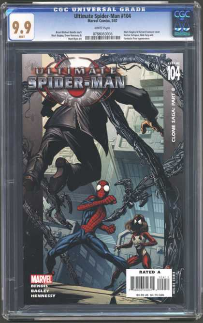 CGC Graded Comics - Ultimate Spider-Man #104 (CGC) - Clone Saga Part 8 - Spiderwoman - Doctor Octopus - Issue 104 - Rated A