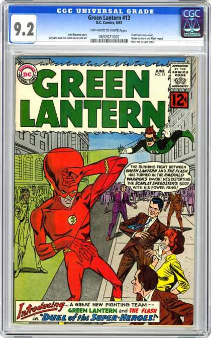 CGC Graded Comics - Green Lantern #13 (CGC) - Green Lantern - Duel Of The Superheroes - Green Lantern And Flash - Scarlett Speedster - Power Ring
