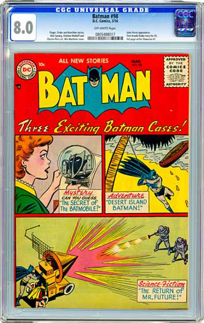 CGC Graded Comics - Batman #98 (CGC) - Dc - Dc Comics - Batman - Cases - Mystery