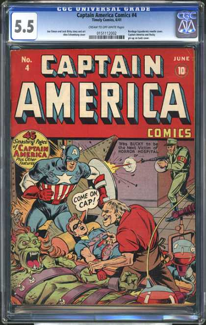 CGC Graded Comics - Captain America Comics #4 (CGC)