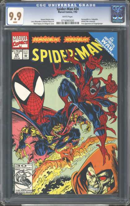 CGC Graded Comics - Spider-Man #24 (CGC) - Spiderman - Hobgoblin - Demogoblin - Doppleganger - Infinity War