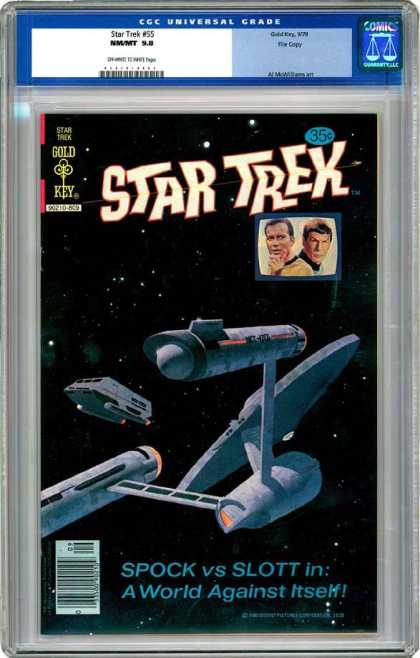 CGC Graded Comics - Star Trek #55 (CGC) - Star Treak - Spock Vs Slott - A World Against Itself - Cgc Universal Grade - Captain Kirk