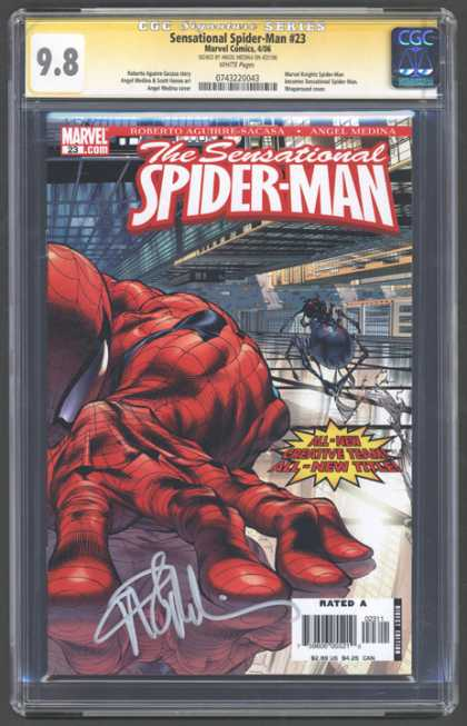 CGC Graded Comics - Sensational Spider-Man #23 (CGC) - Spider-man - Spider - Web - Building - Street