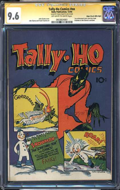 CGC Graded Comics - Tally-Ho Comics #nn (CGC) - Tally-ho Comics - Snowman - Battle - Monster - The Something New In Comics