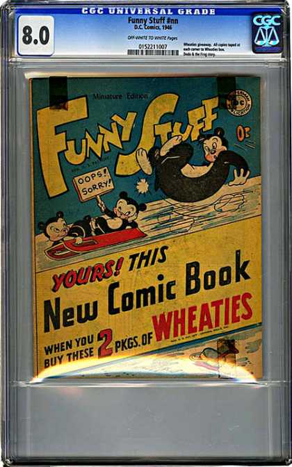 CGC Graded Comics - Funny Stuff #nn (CGC) - Funny Stuff - Sled - Bears - Wheaties - Ice
