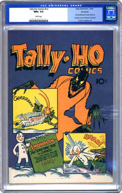 CGC Graded Comics - Tally-Ho Comics #nn (CGC) - Monster - Green - Orange - Snowman - Snow