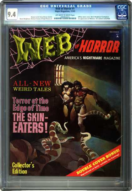 CGC Graded Comics - Web of Horror #1 (CGC) - Americas Nightmare Magazine - Weird Tales - The Skin Eaters - Terror - Web Of Horror