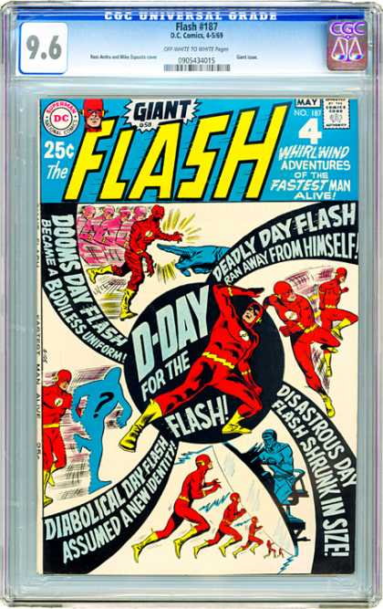 CGC Graded Comics - Flash #187 (CGC) - May Issue - Flash Having Crisis - Someone Stopping Flash - Good Quality - Number 187