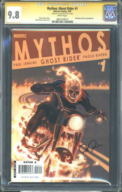 CGC Graded Comics - Mythos: Ghost Rider #1 (CGC) - Motorcycle - Flames - Pablo Rivera - Paul Jenkins - Driving