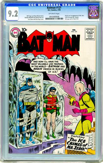 CGC Graded Comics - Batman #121 (CGC) - Batman - Robin - Mr Zero - Frozen Heroes - The Ice Crimes Of Mr Zero