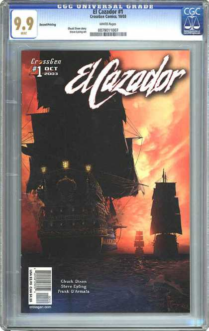 CGC Graded Comics - El Cazador #1 (CGC) - El Cazador - Ships - Sunset - Water - Sails