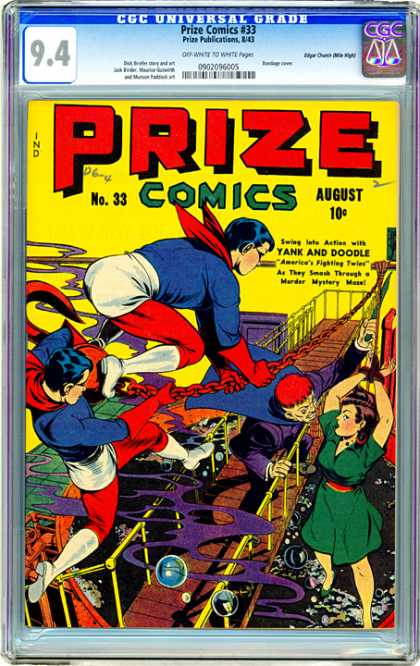 CGC Graded Comics - Prize Comics #33 (CGC) - Prize - Comics - August - Yank And Doodle - Woman