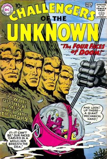 Challengers of the Unknown 10 - Dc - Dc Comics - Unknown - Traitors - Four Faces Of Doom - Matt Hollingsworth
