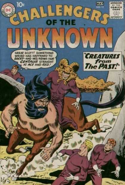 Challengers of the Unknown 13 - Man - Letters - Horse - Devil - Blue - Matt Hollingsworth