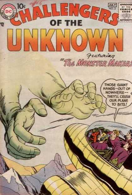 Challengers of the Unknown 2 - Giant Hands - Monster - Crush - Plane - Mountains - Howard Chaykin, Michael Golden