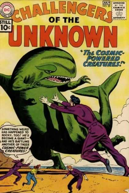 Challengers of the Unknown 20 - Cosmic - Whale - Purple - Green - Creatures