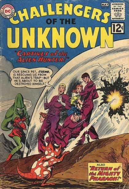 Challengers of the Unknown 25 - Alien Hunter - Cosmo - Pharaoh - Containment Field - Pet