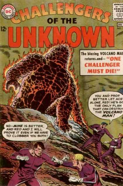 Challengers of the Unknown 32 - The Blazing Volcano - One Challenger Must Die - Volcano Man - Fighting - Ready For Attack