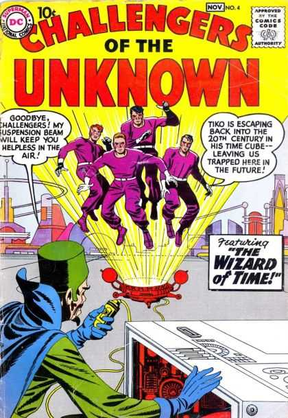 Challengers of the Unknown 4 - The Wizard Of Time - Machine - Yellow Beam - Remote Control - Green Cap - Howard Chaykin, Jack Kirby