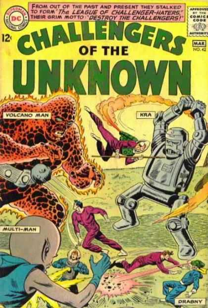 Challengers of the Unknown 42 - The League Of Challenger-haters - Destroy The Challengers - Mar No 42 - Volcano Man - Multi-man