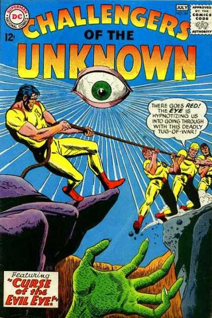 Challengers of the Unknown 44 - Superman - National Comics - Red - Eye - Curse Of The Evil Eye