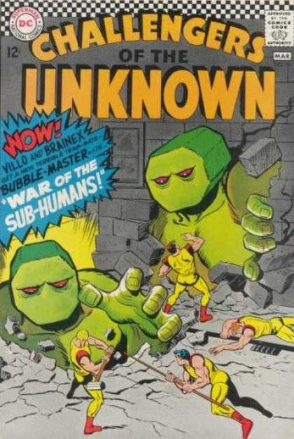 Challengers of the Unknown 54 - Sub Humans - War - Green Monsters - Giants - Fight