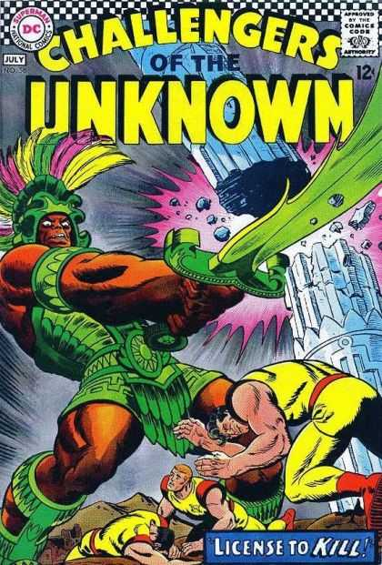Challengers of the Unknown 56 - Sword - Dc - Yellow - Pink - Green
