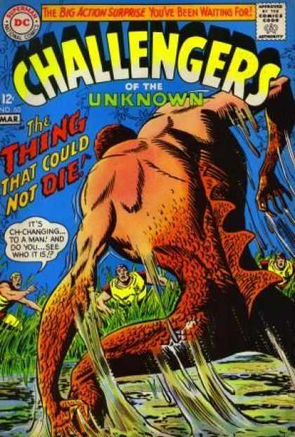 Challengers of the Unknown 60 - Superman National Comics - Approved By The Comics Code - The Big Action Surprise - Monster - Swamp