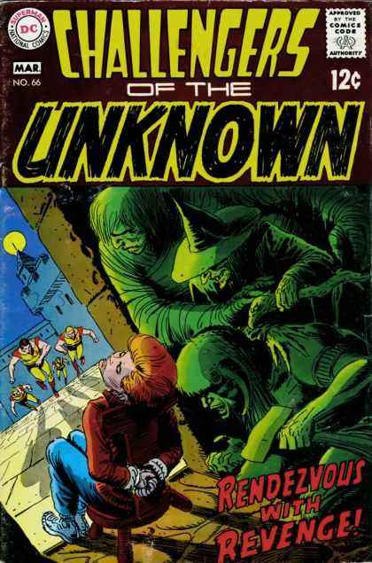 Challengers of the Unknown 66 - Witch - Kidnapped - Rendezvous With Revenge - 12 Cent - Golden Age - Joe Kubert