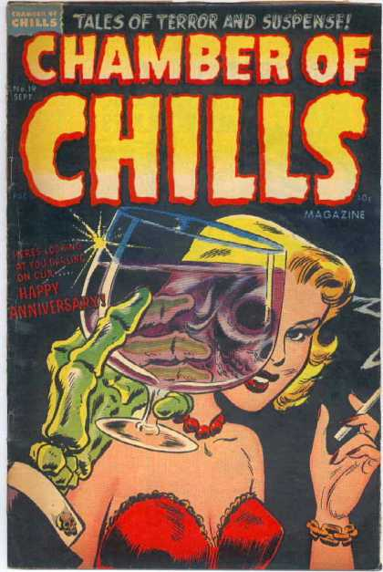 Chamber of Chills 19 - Tales Of Terror And Suspense - Happy Anniversary - Skeleton - Sept - No 19