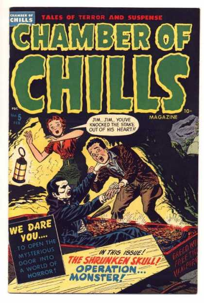 Chamber of Chills 5 - The Undead - Suspense Comic - Vampire - Horror Rag - Scary Comic - Lee Elias