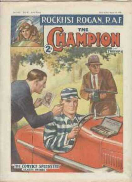 Champion 1021 - Men - Car - Gun - Field - Tree
