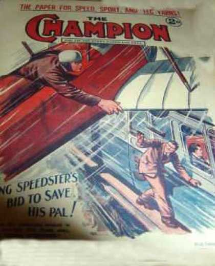 Champion 496 - Airplane - Pulp - Action - Speedster - Art Deco