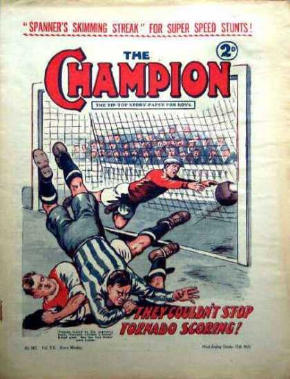 Champion 507 - Spanners Skimming Streak For Super Speed Stunts - The Tip-top Story Paper For Boys - They Couldnt Stop Tornado Scoring - Rugby - Sports