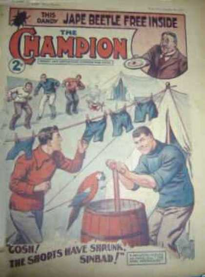 Champion 619 - The Champion - Jape Beetle Free Inside - Gosh The Shorts Have Shrunk Sinbad - Parrot - Men