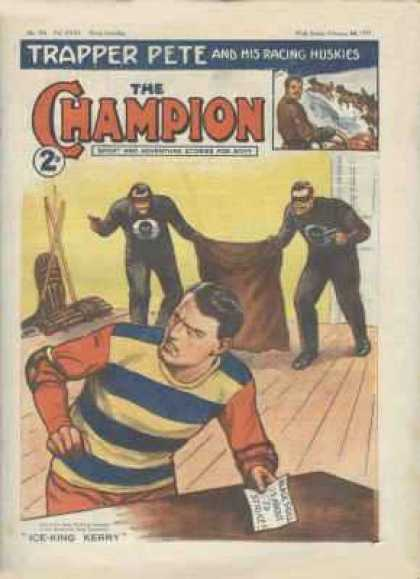 Champion 785 - Trapper Pete And His Racing Huskies - Kidnapping - Masked Men - Pistols - Ambush