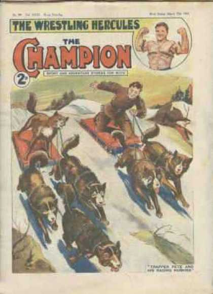 Champion 792 - Sleds - Dogs - Muscle - Snow - Brown Suit